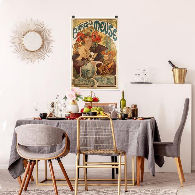 Poster - Alfons Mucha - Plakat für La Meuse Bier - Hochformat 3:2