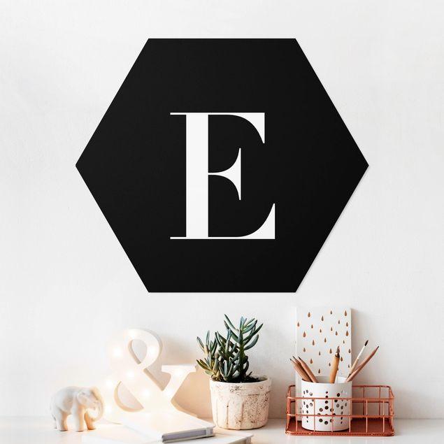 Hexagon Bild Forex - Buchstabe Serif Schwarz E
