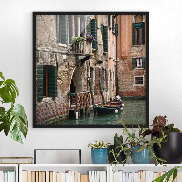 Bild mit Rahmen - Parking Venice - Quadrat 1:1