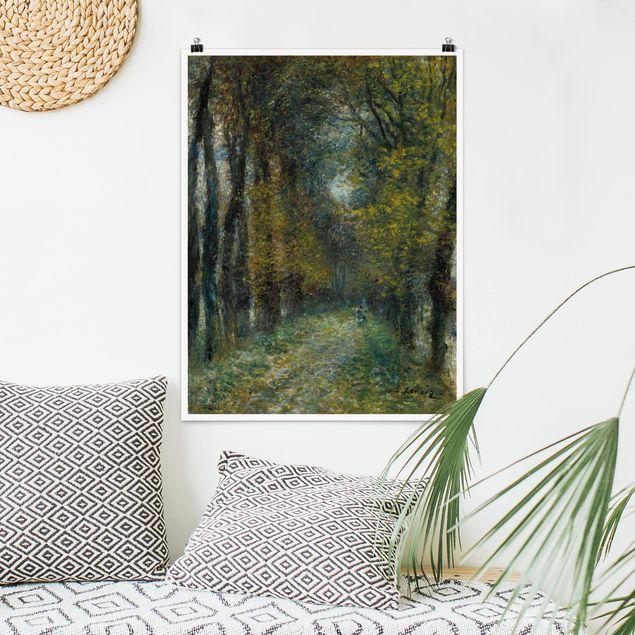 Poster - Auguste Renoir - Die Allee - Hochformat 3:4