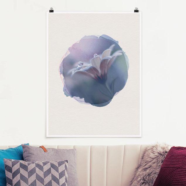 Poster - Wasserfarben - Behind Closed Eyes - Hochformat 4:3