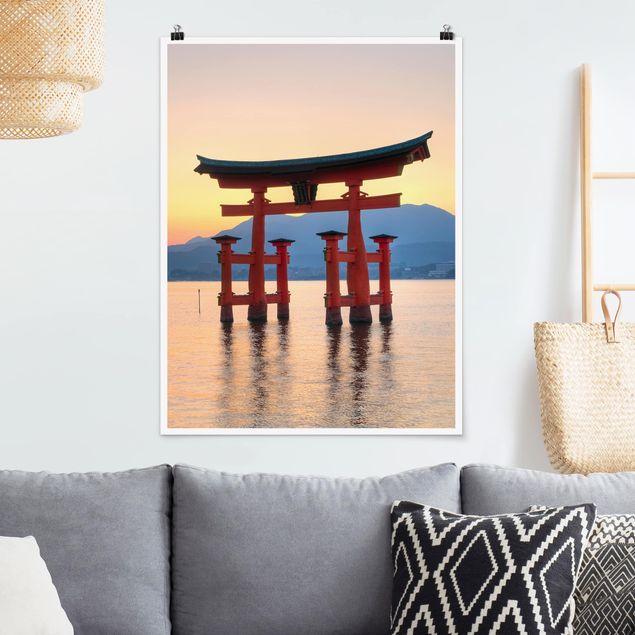 Poster - Torii am Itsukushima - Hochformat 3:4