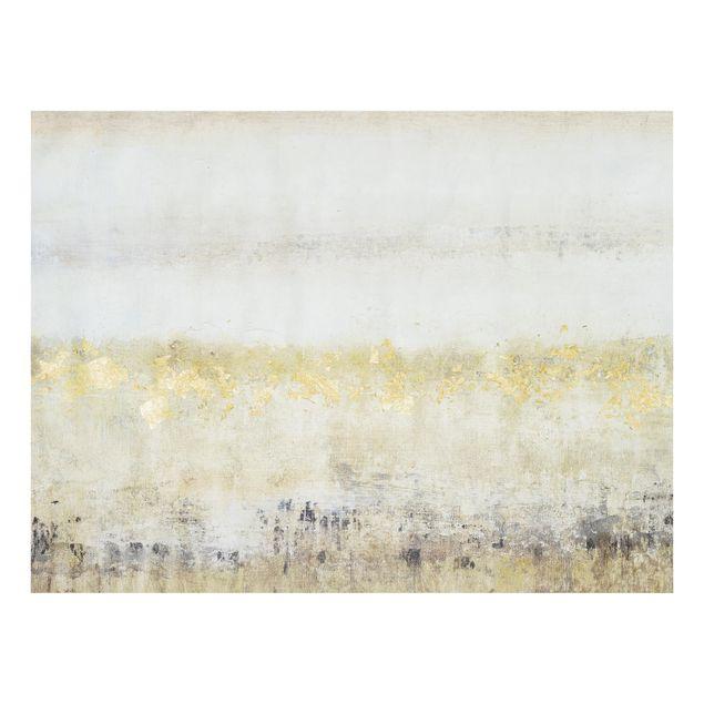 Glas Spritzschutz - Goldene Farbfelder I - Querformat - 4:3