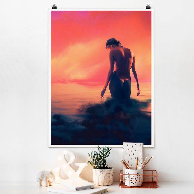 Poster - Nymphe - Hochformat 3:4