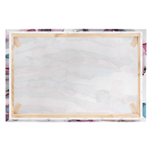 Leinwandbild - Wellenreiten in Violett mit Roségold - Querformat 3:2