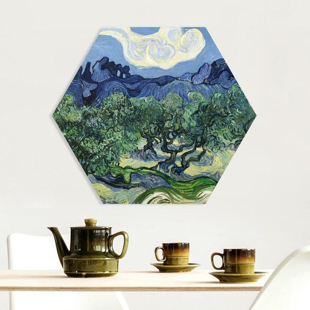 Hexagon Bild Forex - Vincent van Gogh - Olivenbäume