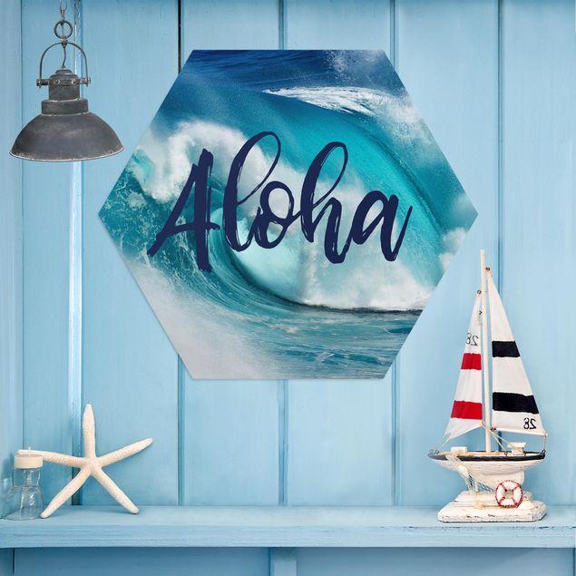 Hexagon Bild Alu-Dibond - Aloha