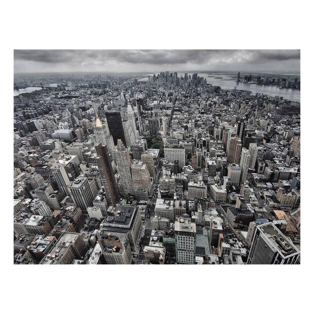 Forex Fine Art Print - Blick über Manhattan - Querformat 3:4
