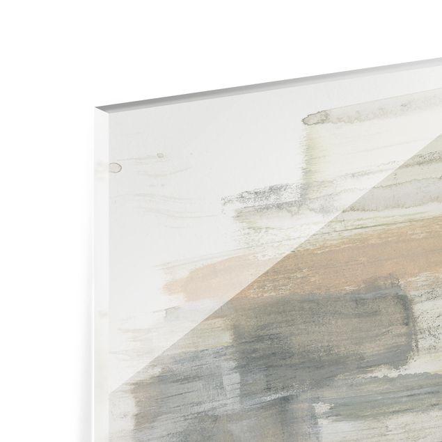 Glas Spritzschutz - Ein Hauch von Pastell II - Querformat - 4:3