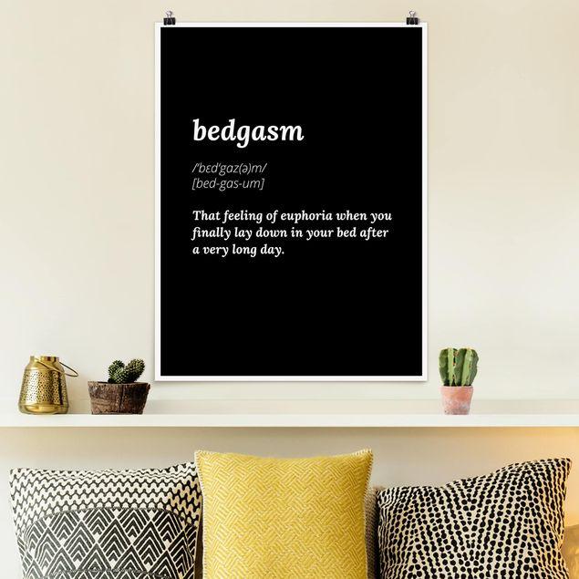 Poster - bedgasm - Hochformat 3:4