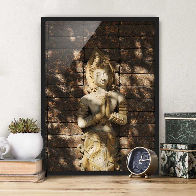 Bild mit Rahmen - Calm Temple Dancer - Hochformat 3:4