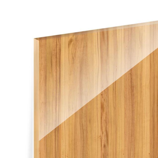 Glas Spritzschutz - Mosaikfliese Holzoptik Weißtanne - Quadrat - 1:1