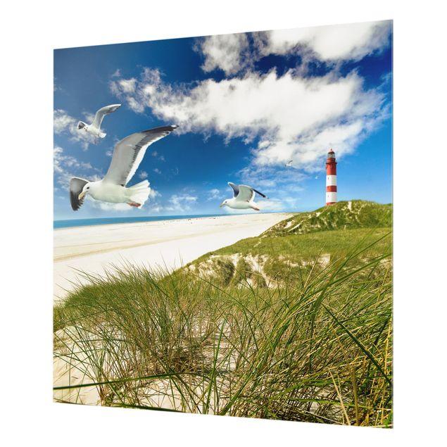 Glas Spritzschutz - Dune Breeze - Quadrat - 1:1
