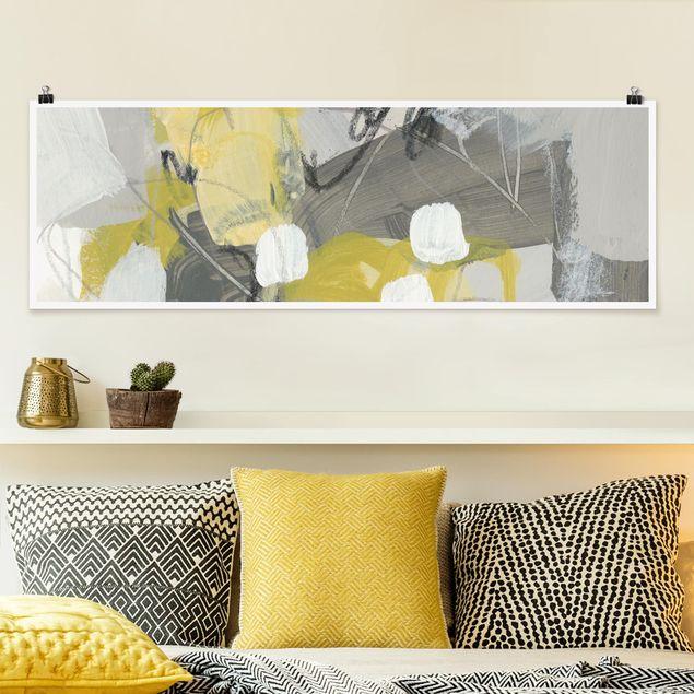 Poster - Zitronen im Nebel III - Panorama Querformat
