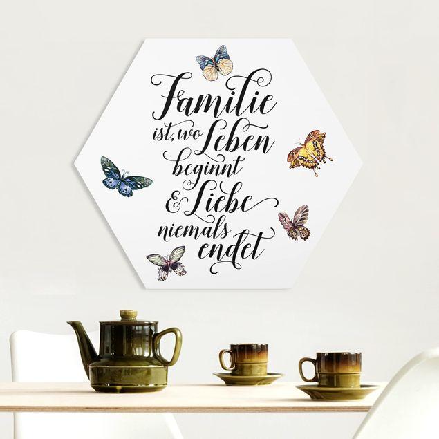 Hexagon Bild Forex - Familie ist wo Leben beginnt