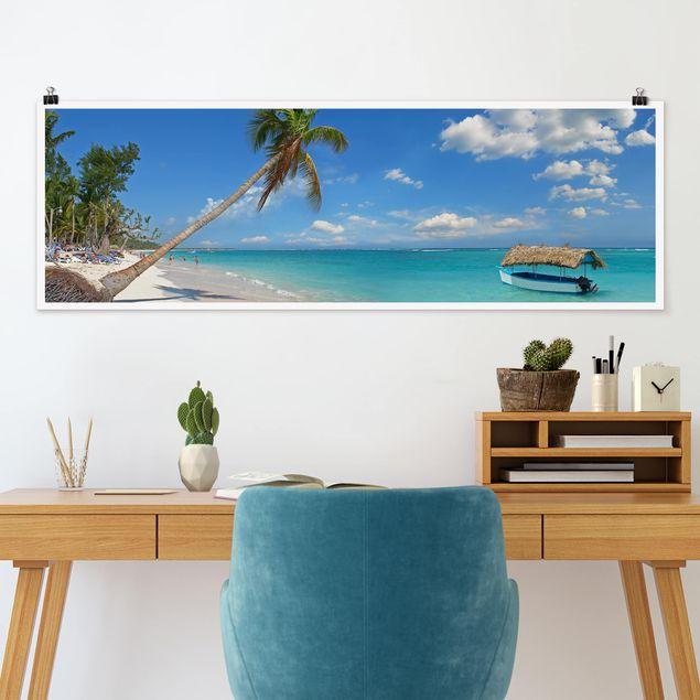 Poster - Tropischer Strand - Panorama Querformat