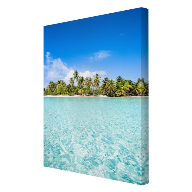 Leinwandbild - Crystal Clear Water - Hochformat 2:3