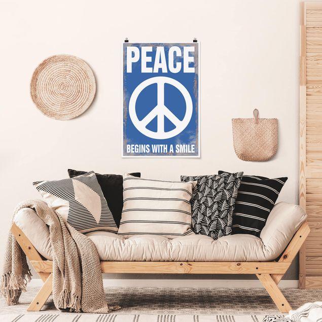 Poster - No.KA18 Peace - Hochformat 3:2