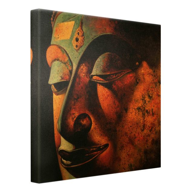 Leinwandbild Gold - Bombay Buddha - Quadrat 1:1