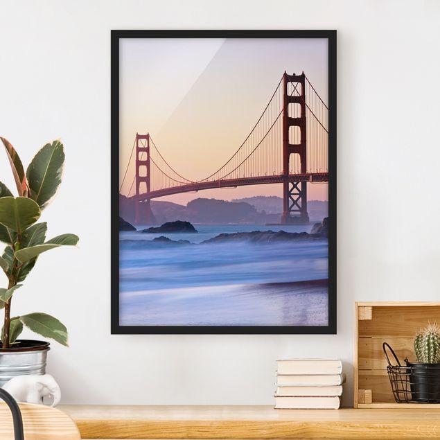 Bild mit Rahmen - San Francisco Romance - Hochformat 3:4