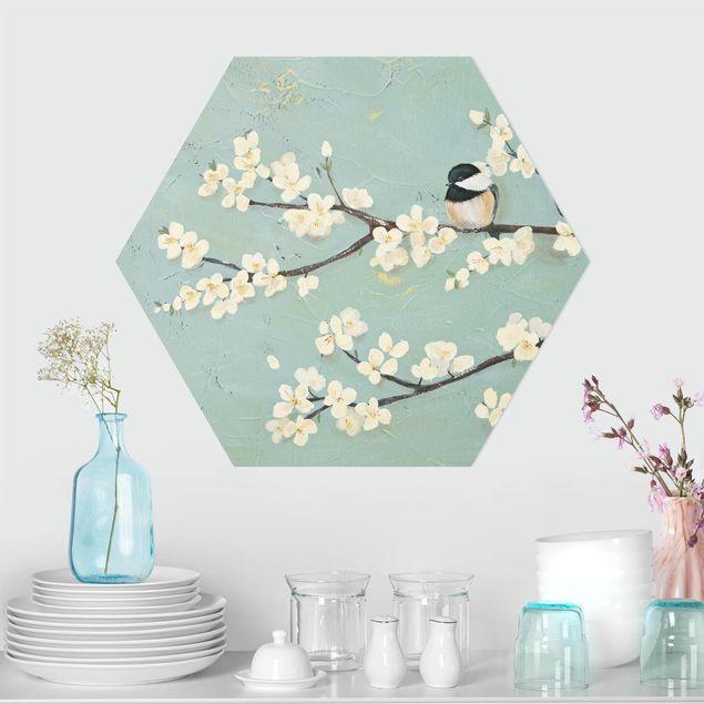 Hexagon Bild Forex - Meise auf Kirschast