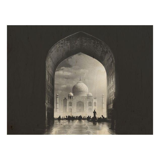 Holzbild - Das Tor zum Taj Mahal - Querformat 3:4