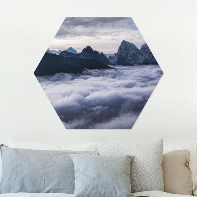 Hexagon Bild Forex - Wolkenmeer im Himalaya