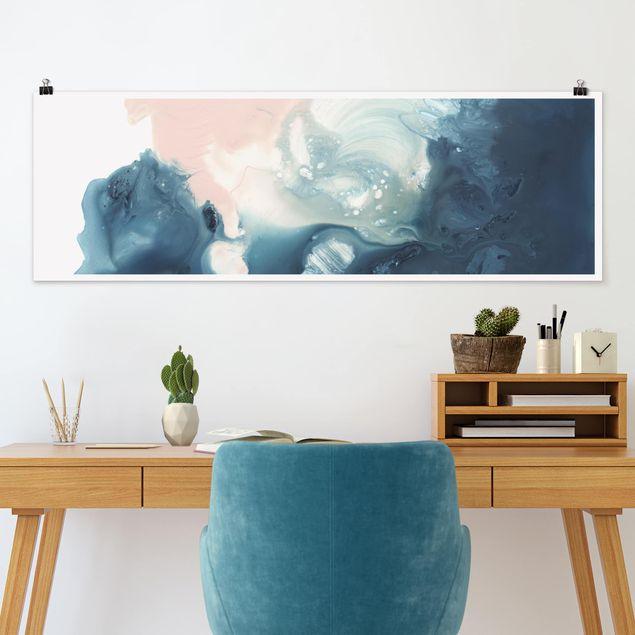 Poster - Wogender Rosenquarz II - Panorama Querformat