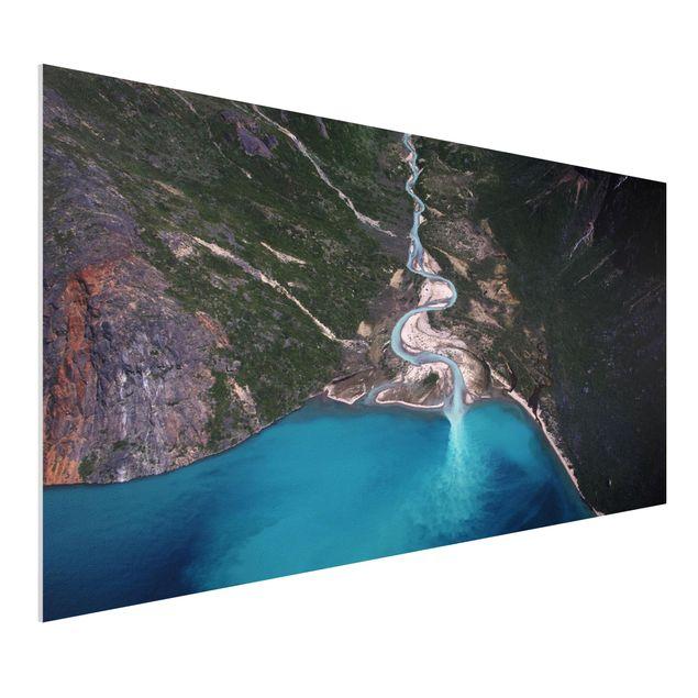 Forex Fine Art Print - Fluss in Grönland - Querformat 1:2