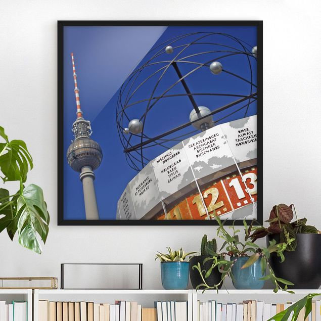 Bild mit Rahmen - Berlin Alexanderplatz - Quadrat 1:1