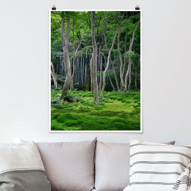 Poster - Japanischer Wald - Hochformat 3:4