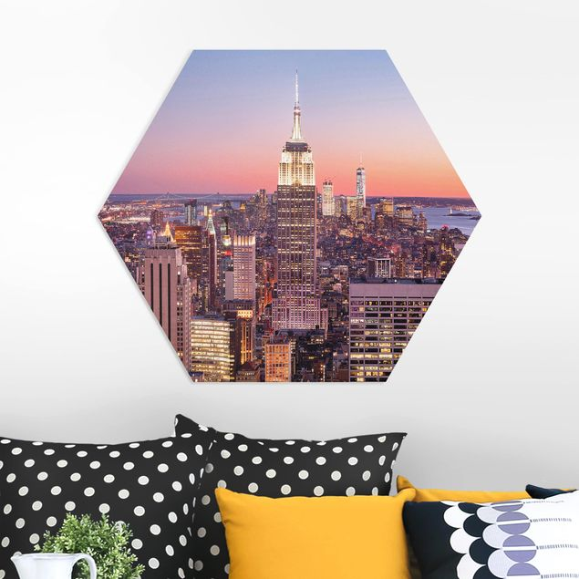 Hexagon Bild Forex - Sonnenuntergang Manhattan New York City