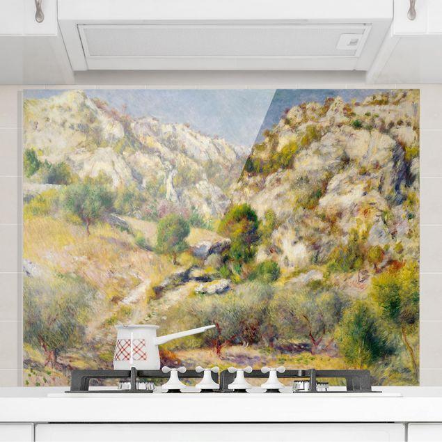 Spritzschutz Glas - Auguste Renoir - Felsen bei Estaque - Querformat 3:4