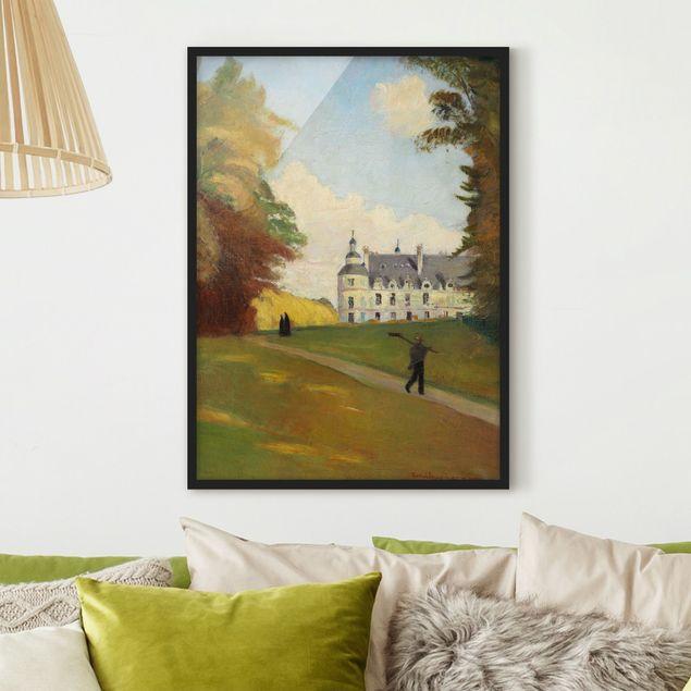 Bild mit Rahmen - Emile Bernard - Beim Schloss Tanlay - Hochformat 3:4