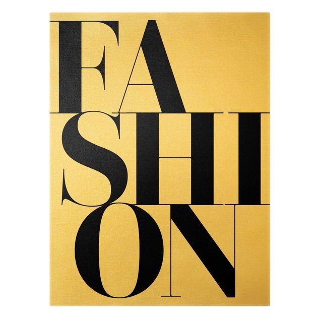 Leinwandbild Gold - FASHION - Hochformat 3:4
