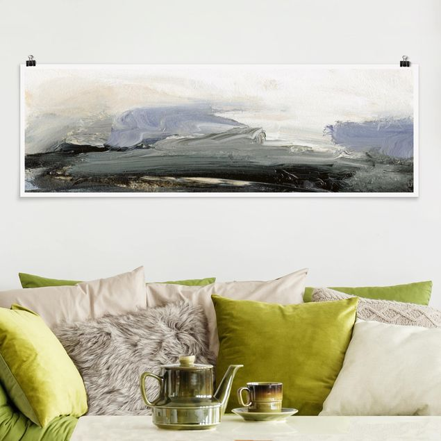 Poster - Horizont bei Tagesanbruch - Panorama Querformat