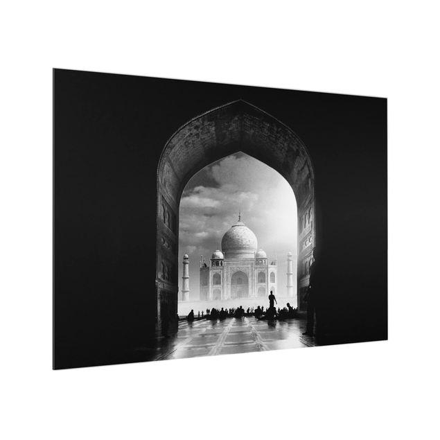 Glas Spritzschutz - Das Tor zum Taj Mahal - Querformat - 4:3