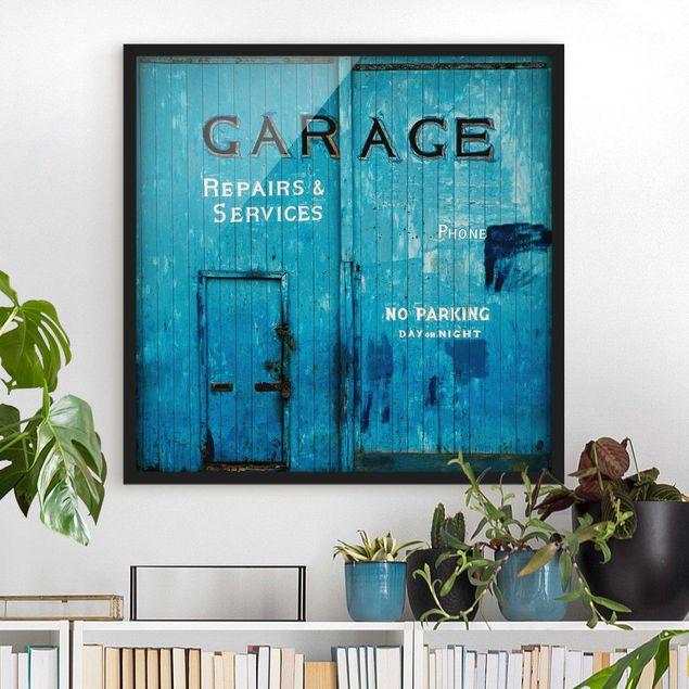 Bild mit Rahmen - Garagentor - Quadrat 1:1