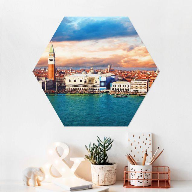 Hexagon Bild Alu-Dibond - Venezia Eve
