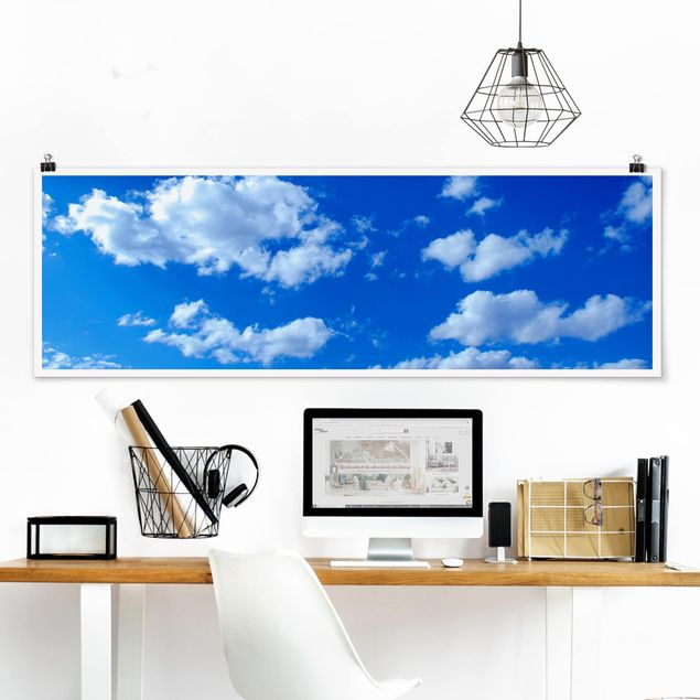 Poster - Wolkenhimmel - Panorama Querformat