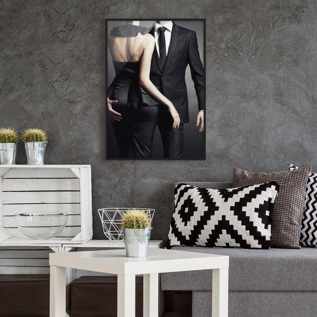 Bild mit Rahmen - Touch of Elegance - Hochformat 3:4