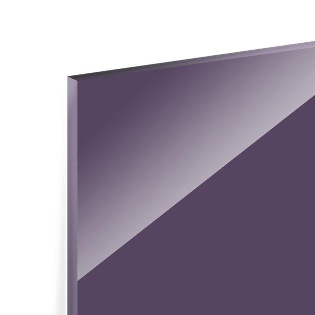 Glas Spritzschutz - Rotviolett - Querformat - 4:3