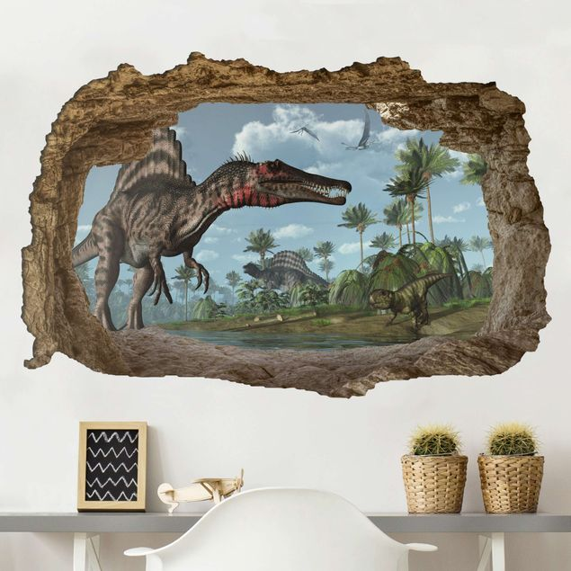 Wandtattoo - Dinosaurier Landschaft