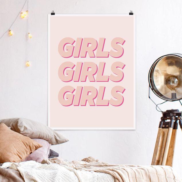 Poster - GIRLS GIRLS GIRLS - Hochformat 3:4