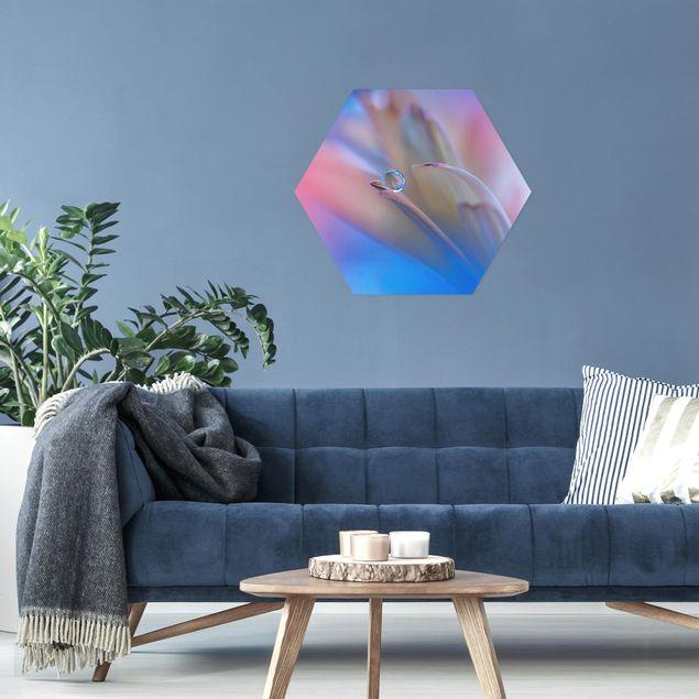 Hexagon Bild Alu-Dibond - Touch Me Softly