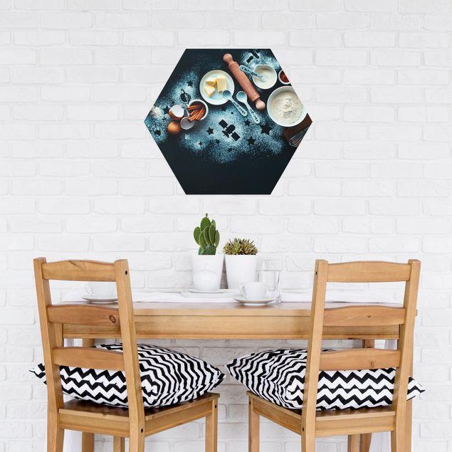 Hexagon Bild Alu-Dibond - Backen für Sterngucker