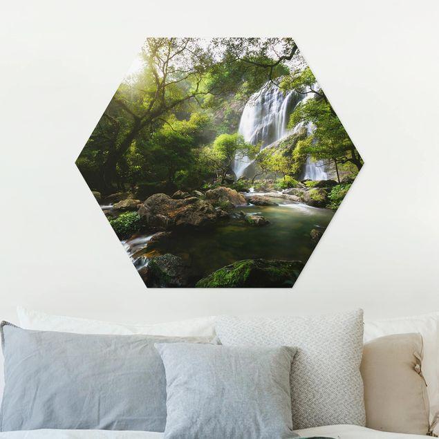 Hexagon Bild Forex - Gebirgsbach