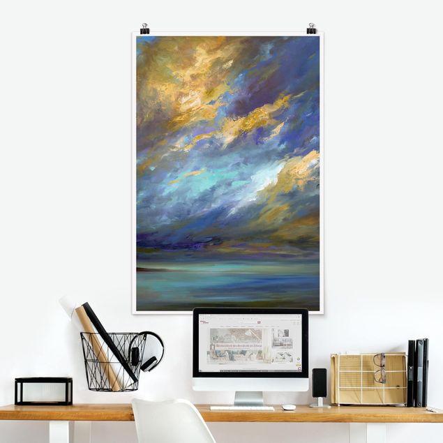 Poster - Himmel über Küste - Hochformat 3:2