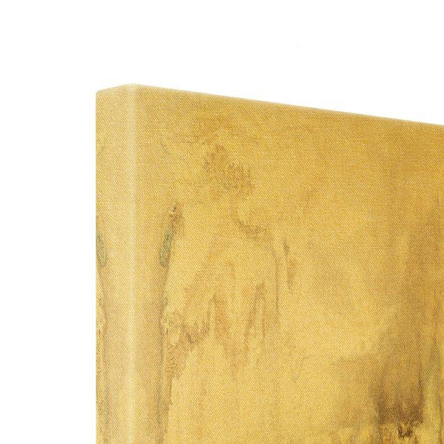 Leinwandbild Gold - Goldener Treibsand II - Quadrat 1:1
