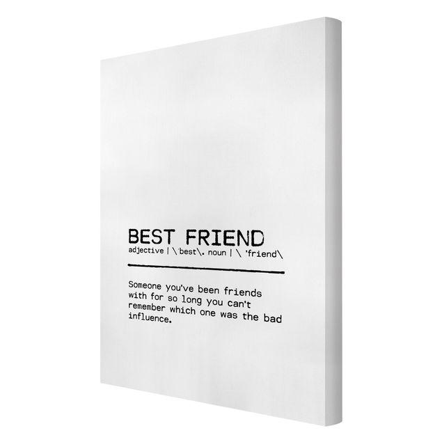 Leinwandbild - Definition Best Friend - Hochformat 2:3